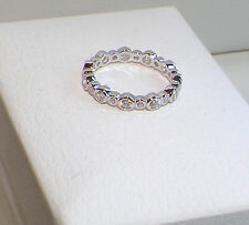 Solid 925 Silver ring/Full Eternity Band,Pandora inspired ring,bezel set,size 6