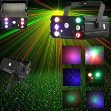 Mini 6 LEDs R&G Laser Stage Light Projector Portable DJ Disc Festival Xmas Party