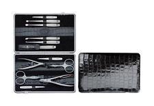ZWILLING Twinox Beauty Manicure-ASTUCCIO emblema imitazioni-Vitello Pelle Astuccio quadro 12tlg