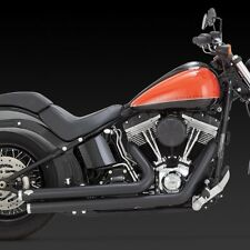 2012-2017 HARLEY SOFTAIL BIG SHOTS Full Exhaust Black (VANCE AND HINES 47933)