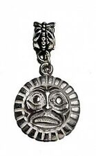 LOOK sterling silver Tribal Haida Mask jewelry bead Charm