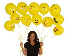 Emoji Party Balloons For Happy Birthday Latex Smiley Faces Funny 72 Pcs Yellow