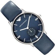 EMPORIO ARMANI MEN'S WATCH AR1647 BLUE DIAL - BRAND NEW WITH BOX