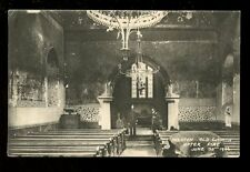 Sussex PRESTON Old Church AFTER FIRE  interior 1906 Policeman PPC used 1906