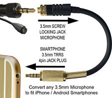 STANDARD 3.5mm MICROPHONE ADAPTER CONVERTER for IPHONE ANDROID SMARTPHONE SOCKET