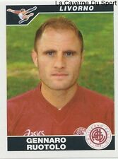 255 GENNARO ROUTOLO ITALIA AS.LIVORNO STICKER CALCIATORI 2005 PANINI