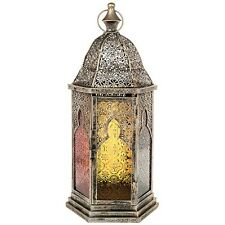 Extra Large Beautiful Quality Moroccan Candle Lantern Metal & Glass 47CM Tall