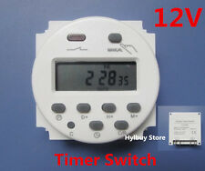 DC 12V Digital LCD Display PLC Programmable Time counter Timer switch Relay 16A