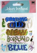 Something Old Something New Borrowed Blue Wedding  Bride  Jolee's 3D Sticker