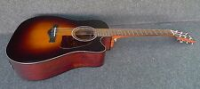 Ibanez AW400CE-BS SOLID Sitca Spruce TOP ACOUSTIC ELECTRIC CUTAWAY Fishman