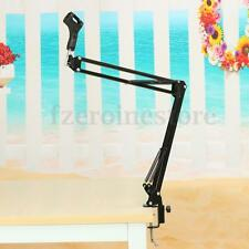 Hot Studio Microphone Mic Suspension Boom Scissor Arm Stand Holder w/Shock Mount