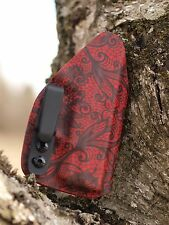 Kydex IWB holster for Kimber Micro 9, (9mm) - Black Lace on Red - InvisiHolsters