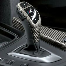 Real Carbon Fiber Gear Shift Cover Trim Decal for BMW M Performance Sport LH
