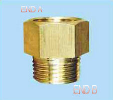 """1/4"""" Female BSPT to 1/8 Male NPT Coupling Brass Pipe Fitting Gauge adapter NT-8M"""