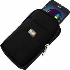 Housse Pochette Ceinture Nylon pour Samsung Galaxy Note 4 - Etui Noir