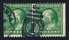 US 331a = 1c Franklin Booklet Pairs - USED BOOKLET PAIRS - VF