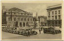 Primi '900 Milano piazza scala auto d'epoca parcheggio vecchi tram FP B/N ANIM