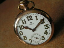Vintage Military Officer OMEGA Pocket Watch, A.L.D. MOON Case, British Army WW1