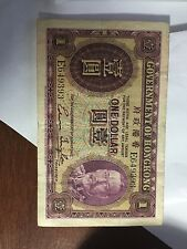 Government of Hong Kong 1935 $1 One Dollar & HSBC 1956 $10 Bill/Papermoney