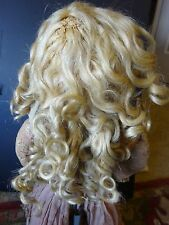 Antique Extension Doll Wig Blonde Hand braided Human Hair blonde