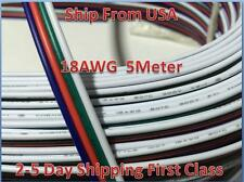 5M RGB 4-Pin 18AWG Extension Wire Connector Cable For 3528 5050 RGB LED Strip