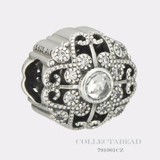 Authentic Pandora Sterling Silver Fairytale Bloom Clear CZ Bead 791961CZ