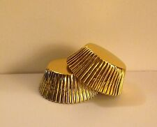 Grease-resistant Gold Foil standard size cupcake liners/baking cups - 75 count