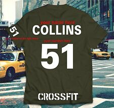 Crossfit GYM T-shirt WOD Functional Sport Training Workout Strength + YOUR NAME