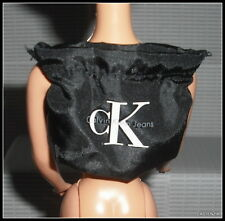 PURSE BARBIE DOLL BLACK  WHITE CALVIN KLEIN LOGO BACKPACK BAG ACCESSORY ITEM