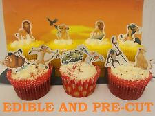 x24 LION KING edible wafer paper stand up cup cake toppers PRE-CUT