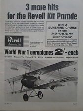 7/1964 PUB REVELL AUTHENTIC KITS WWI ALBATROS DIII GERMAN FIGHTER ORIGINAL AD