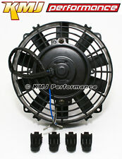 "High Performance 8"" ATV UTV Black Electric Radiator Cooling Fan w/ Mounting Kit"