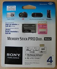 Genuine Sony 4GB Memory Stick PRO Duo Mark2, P/N: MS-MT4G