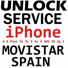 Movistar Spain iPhone 6 6Plus 5s 5c 5 4s 4 3gs 3g 2g Factory Unlock Service