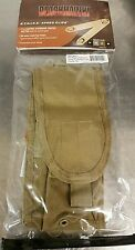 BLACKHAWK STRIKE M-4 M-16 STAGGERED MAGAZINE POUCH WITH SPEED CLIPS - COYOTE TAN