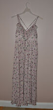 $138 GUESS Jeans Julia Strappy Maxi Dress Long Milk Multi Floral New 7