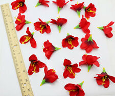 10pcs NEW red lily Artificial Silk flower heads Home Wedding DIY Floral Crafts