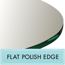 "16"" Round Clear Tempered Glass Table Top 3/8"" Thick - Flat Polish Edge"