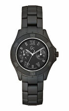 NEW WT GUESS COLLECTION GC LADY WATCH BLACK MATTE SPORT CLASS XLS GLAM X69020L2S