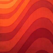 Vtg Heals Fabric Barbara Brown frequency retro 60's DIY art verner panton era