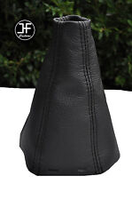 BLACK DOUBLE STTICH FITS SAAB SS 93 9-3 2003+ REAL LEATHER GEAR GAITER