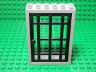 LEGO LEGOS - One 2 X 6 X 7 Jailhouse Door and Frame LIGHT GRAY / BLACK