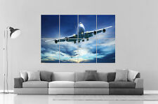 Plane Avion Boeing 747 Airlines Wall Poster Grand format A0 Large Print