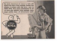 Pubblicità epoca 1940 CREMA NIVEA BEAUTY WOMAN advert werbung reklame publicitè