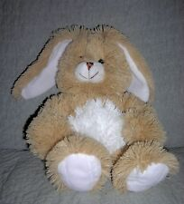 SOFT plush BUNNY RABBIT  by HOBBY LOBBY   LIGHT BROWN, WHITE TUMMY, LONG EARS