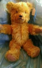 "Antique  American 15"" IDEAL Teddy Bear Gold Mohair beautiful"