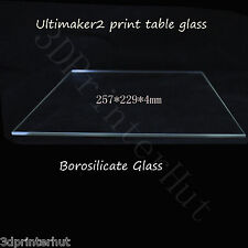 3D Printer Ultimaker 2 Print Table Glass plate Borosilicate Glass 257x229x4mm