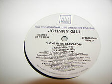 """JOHNNY GILL LOVE IN AN ELEVATOR / SO GENTLE 12"""" Single NM Motown 1997 PROMO"""