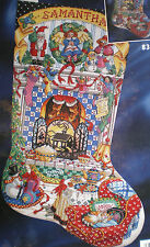 "Bucilla  Sandy Orton  ""Cozy Christmas"" Stocking Counted X  Stitch Kit sealed"
