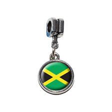 Jamaica Jamaican Flag - Italian European Style Bracelet Charm Bead